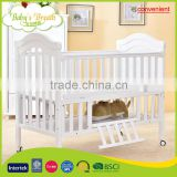 WBC-10B convenient do adult baby wooden swing bed rail protection with playpen function