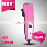 MRY colorful light weight hair clippers manufacturer hair clipper with adjustable blade level my-701
