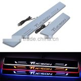 4Pcs/Set Car Front Rear Door LED Flash Door Sills Moving Scuff Plate Light Panel Red Blue White For Hyundai Tucson 3rd 2015 2016