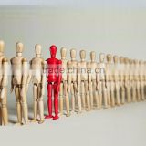 "red color mini doll Supply 12 ""wooden puppet joints Wooden crafts processing customized manufacturers selling wholesale"