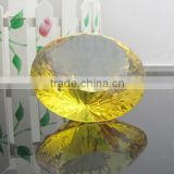 New arrival Europe Style Elegant Gold Yellow Crystal Diamond Rings In Wedding Decoration&Crafts