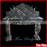China Marble Pedestal Black Marble Sink