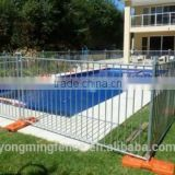 Galvanized steel swimming pool fence