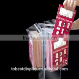 detachable 3 pockets outdoor floorstanding acrylic brochure display stand,acrylic brochure holder,acrylic leaflet holder