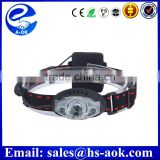 Q5 led 18650 or AAA battery high power zoom head torch rechargeable led head lamp hunting