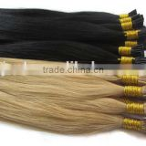 beautiful blond hair I-tip hair extension made of 100% pure brazilian human hair