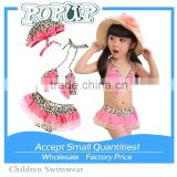 2015 Popular Leopard Printed wholesale kids swimwear                                                                         Quality Choice