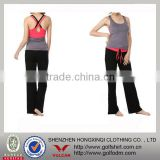 Bamboo Fiber material soft and comfortable lades' yoga wear