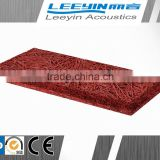 auditorium decorative acoustic wood wool mineral fiber board ceiling tiles