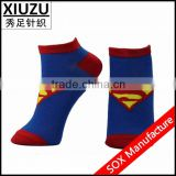 2014 New Products Cotton Socks/Superman socks/ankle sock