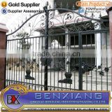 High quality new design wrought iron gate, iron main gate designs with best price made by Benxiang