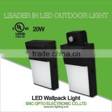 UL cUL 20w mini led wall pack light with photocell and 5 years warranty