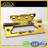Normal Size Wooden Garden Door Gold Color Steel Flush Hinge