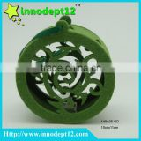 Green hole non woven - felt round shape Christmas hanging decoration with RGB led lighting