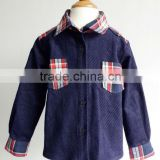 100% cotton corduroy boys winter Blouses