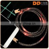new products 2016 flashing LED light USB charging cable shoelace micro USB cable for smartphone