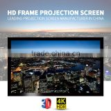 Fast delivery HD 16:9 150 inch Wall Mount Fixed Frame Projection Screen / Fixed Frame Projection Screen For Home Cinema