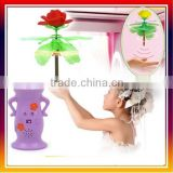 Newest Flying Toys ,RC Flying Toys Hand Sensor Doll Toy Roses Flower( three seconds to start )