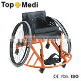 Rehabilitation Therapy Supplies Topmedi Aluminum manual folded lightweight leisure Basketball wheelchair