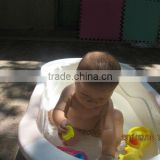 Rubber stopper light plastic baby bath