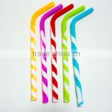 China factory Custom silicone rubber drinking straw plastic drinking straw(colorful reusable)