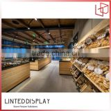 Plywood Material Made Bread Display Cabinet For Bakery