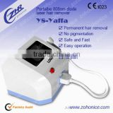 Unwanted Hair Y8A Portable Diode Lady / Girl Laser Hair Removal/808nm Hair Removal Machine