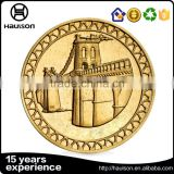 Wholesale new design gravity casting aluminium alloy fake gold plating souvenir custom metal copper challenge coin