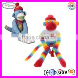 D399 Soft Knitted Sock Monkey Stuffed Plush Magnet Monkey