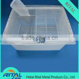 Durable HDPE mouse size lab rodent breeding cage.