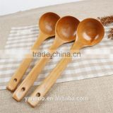 Chinese Natural Wood Soup Spoon, Green wooden Spoon for custom printed Kitchen