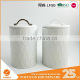 Powder-Coated Retro Metal Embossed Dianond Tea Coffee Sugar Storage Canister,Bread bin,Cake tin