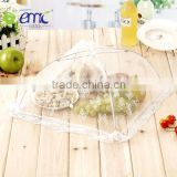 Wholsale white lace style cloth and stainless steel food cover and fruit cover