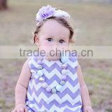 latest party wear dresses for girls Toddler Reversible Tunic Pinafore dress Lavender chevron cotton dress infant full skirt