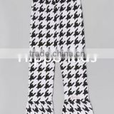Wholesale black white houndstooth ruffle pants little girls skinny leggings baby icing ruffle pants
