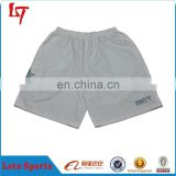 Men's white blank shorts polyester custom plain beach shorts printable cheap boxer shorts