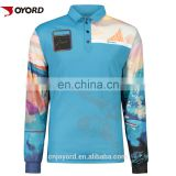 Polyester Fishing Shirts Long Sleeve t Shirt Sublimation UPF 50 T-Shirt Custom Outdoor Sports tshirt