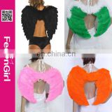 Hot wholesale large cheap fur angel wing for adults in stock 4 colors