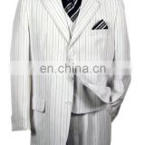 Thick Small Striped Black and White Suit - Navy Fineline Stripe Men Suit - Fashion Skinny Suit for Women - tailored suits OEM