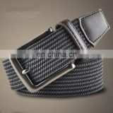 BET8 Yiwu Cheap Webbing Belts Men's Women's 35mm Cotton Fabric Braided-Elastic Belts