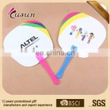 Printing pp hand fan promotion Beautiful colorful cheap custom advertising fan