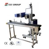 Cheap 90 degree angle co2 fly laser marker marking machine LM-100T