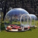 Transparent 3m,4m,5m inflatable camping bubble tent with frame tunnel clear igloo camping inflatable floating tent