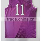purple sublimation basketball wear basketball jersey/uniform