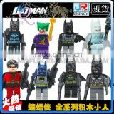 Mini Qute JR 8pcs/set Marvel Avenger Spiderman Batman super hero boys building block action figures educational toy NO.233