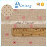 Alibaba china supplier imitated linen cotton polyester floral printed fabric for garments
