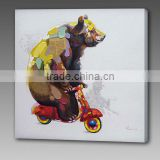 Heavy Texture Abstract bear Oil Painting