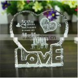 3d laser crystal piezoelectric crystal crystal wedding gift