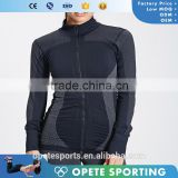(OEM/ODM Factory) 2016 Yoga wear polyester spandex dry fit Yoga jacket Sports jacket for women