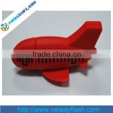 Cute red pvc airplane usb flash drive